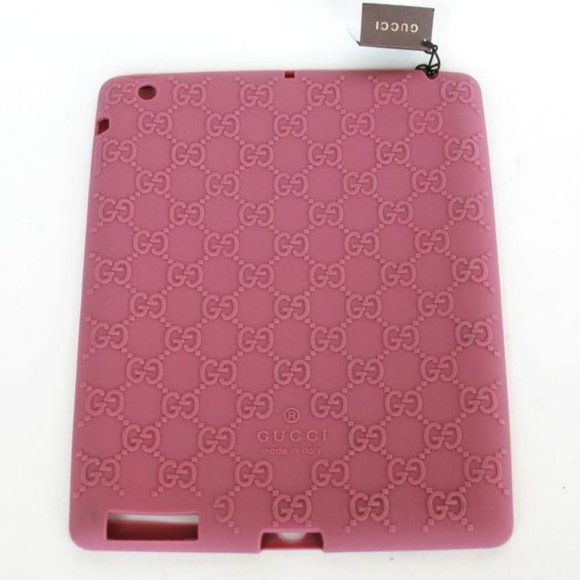GUCCI Rubber Monogram Logo in Pink iPad Case Cover